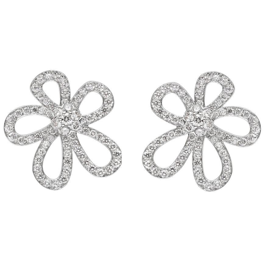 51392044658 Lyst - Van Cleef   Arpels Large 18k White Gold   Diamond
