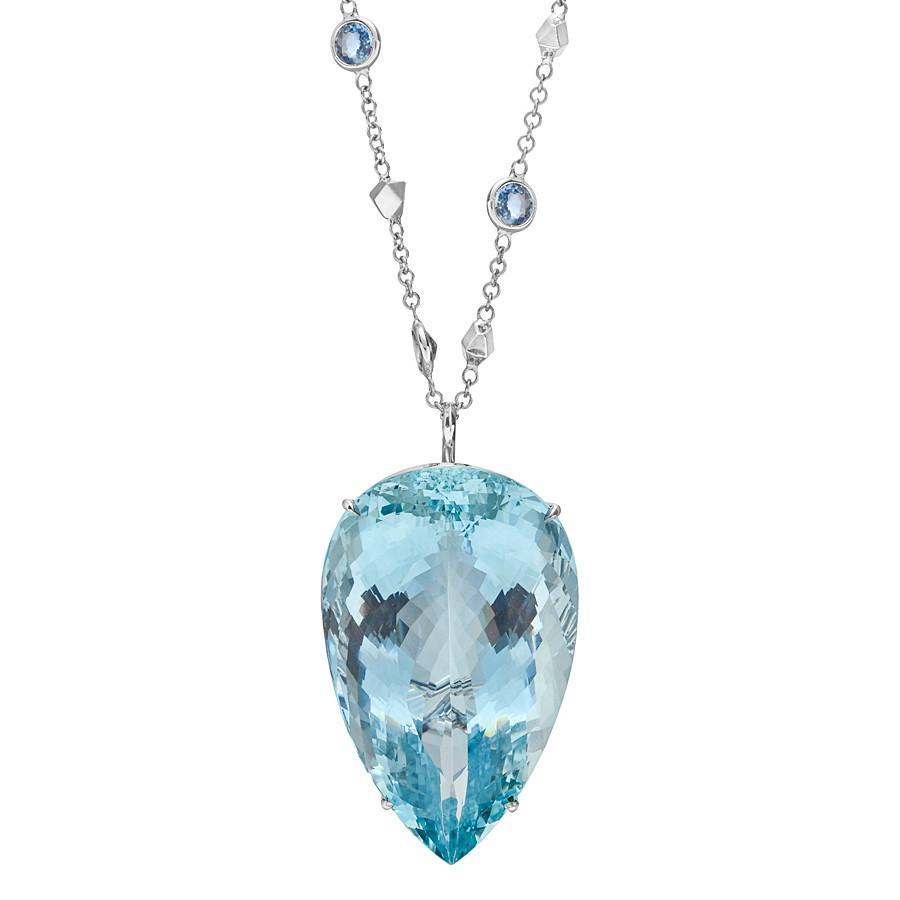 Lyst paolo costagli large aquamarine pendant on gem set brillante paolo costagli womens large aquamarine pendant aloadofball Image collections