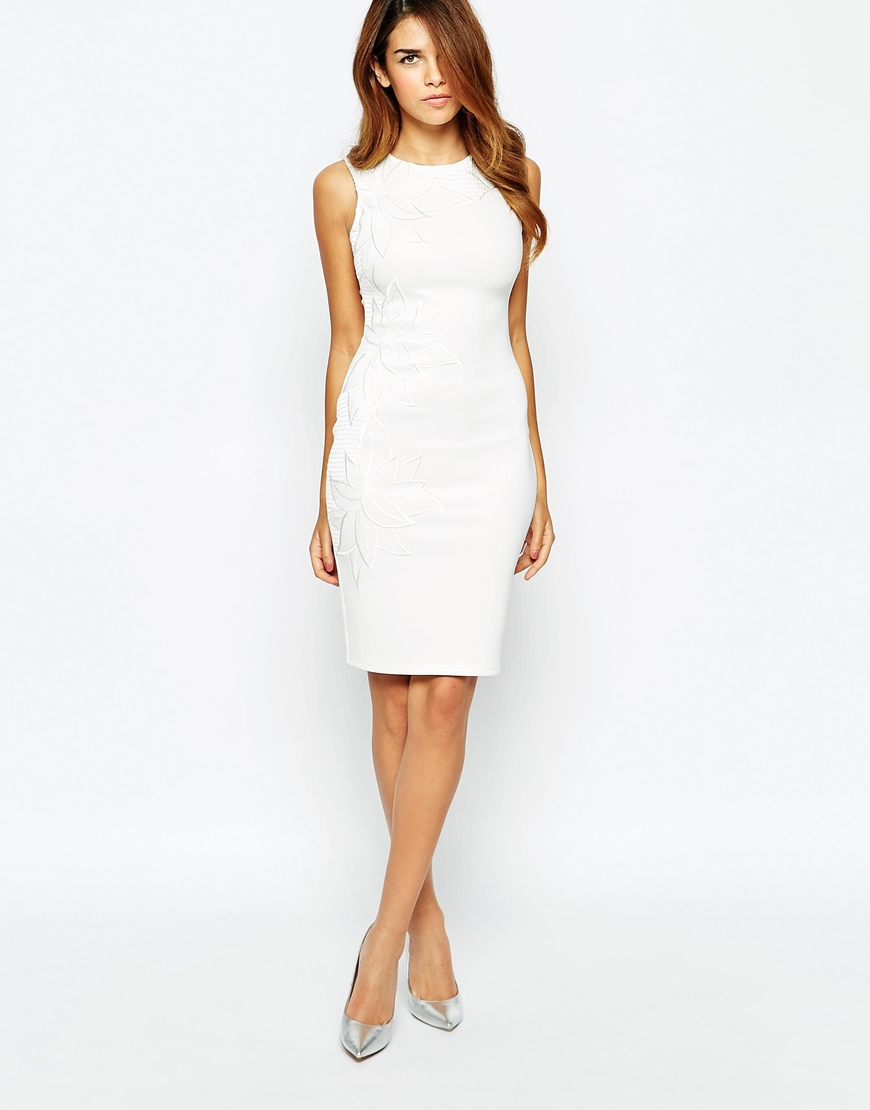 Knee length lipsy plunge pleated bodycon dress catalogues