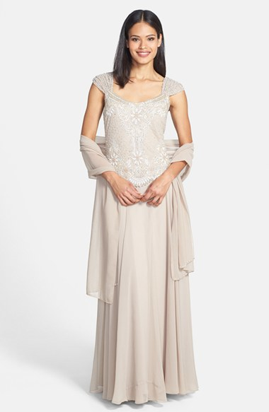 279e9df4f9 Source https   www.lyst.com clothing j-kara-embellished-bodice-chiffon-gown -with-shawl-champagne-white-silver-1