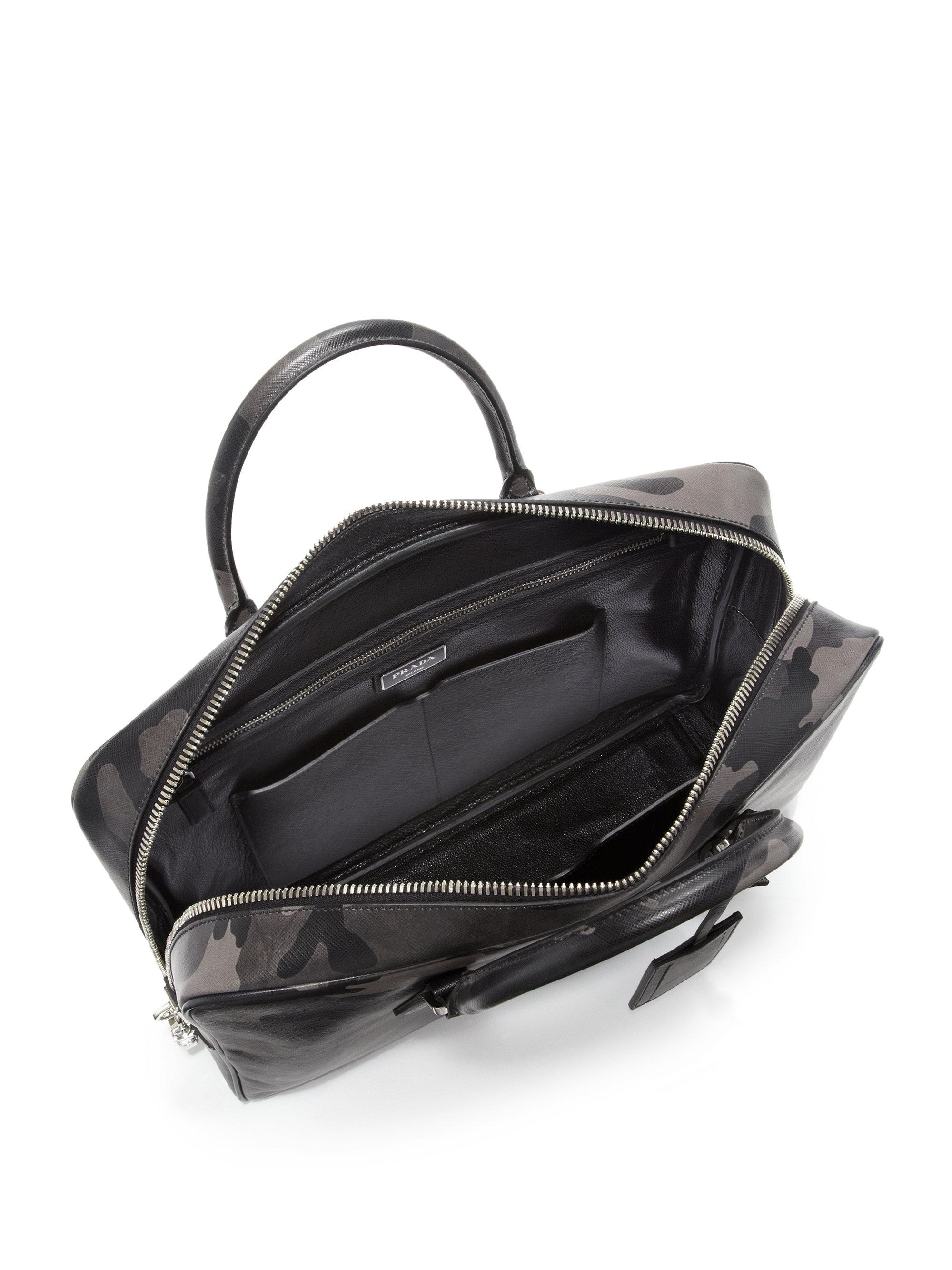 prada replica wallet - prada camouflage print saffiano leather briefcase, prada messenger ...