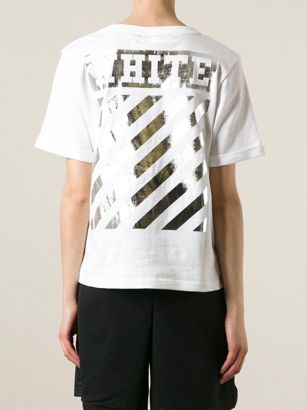 Lyst Off White C O Virgil Abloh Logo Printed T Shirt In