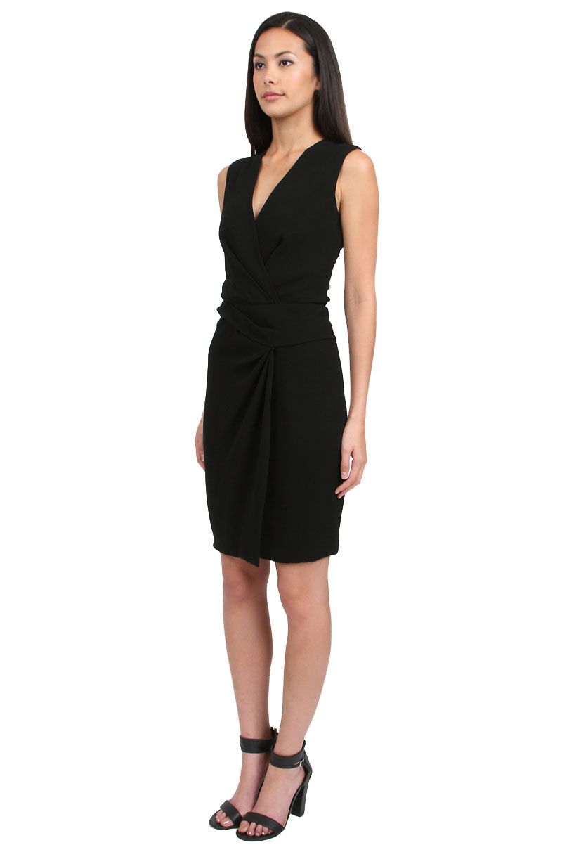 Diane von furstenberg beyatta sleeveless dress in black lyst for Diane von furstenberg clothes
