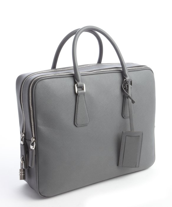 8feab19e9282fd ... coupon code for lyst prada mercury saffiano leather small travel bag in  gray for men c17fe