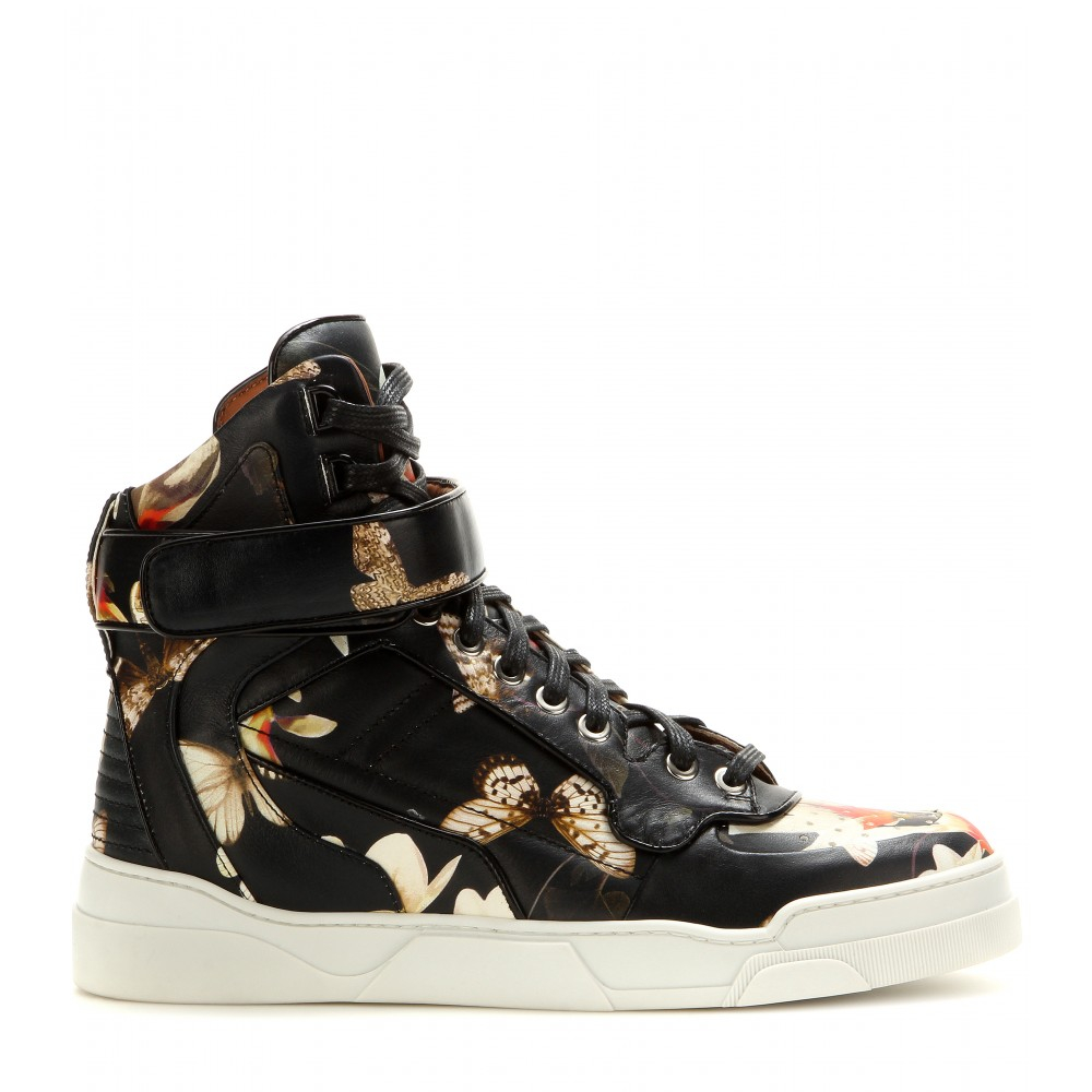 Top Givenchy Leather High Tyson Lyst Sneakers 1I6F76w