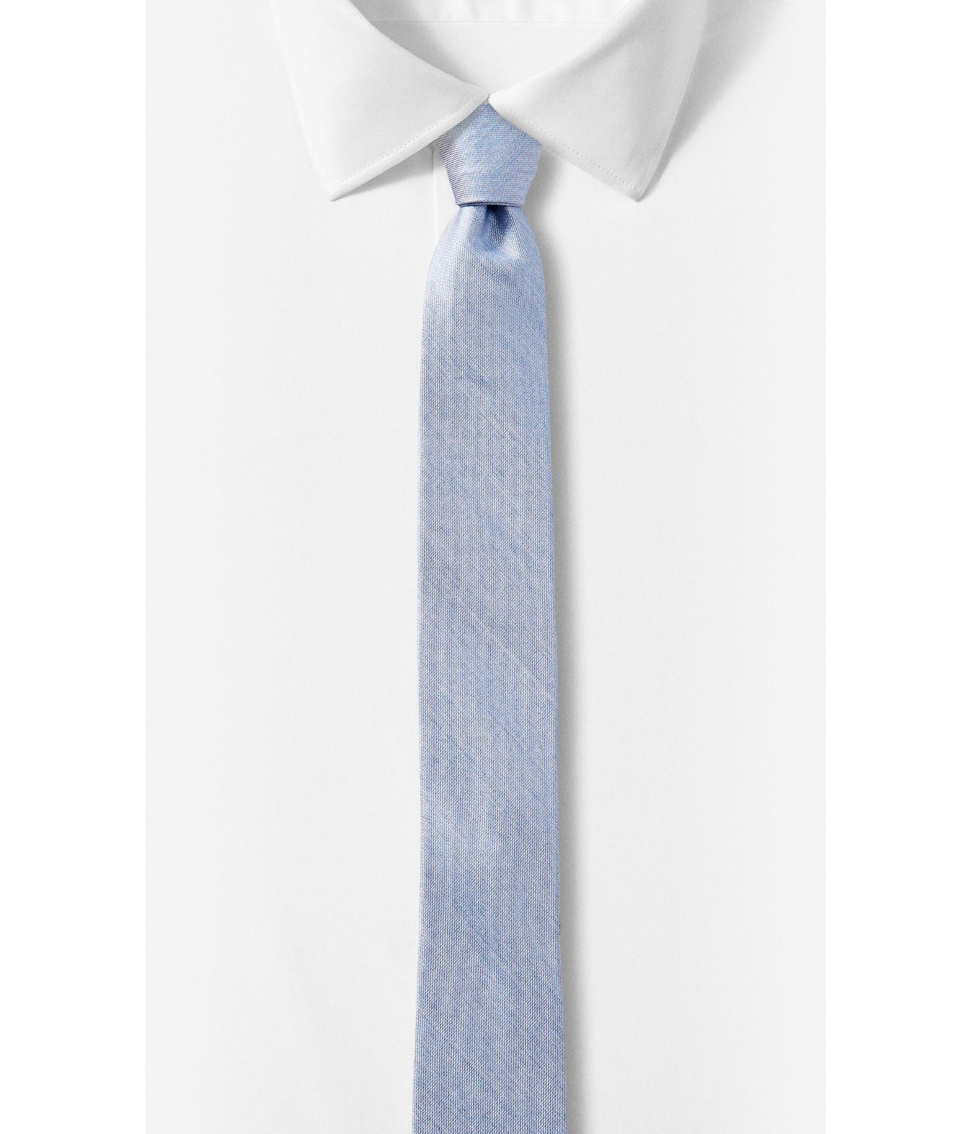 express reversible silk blend tie in blue for