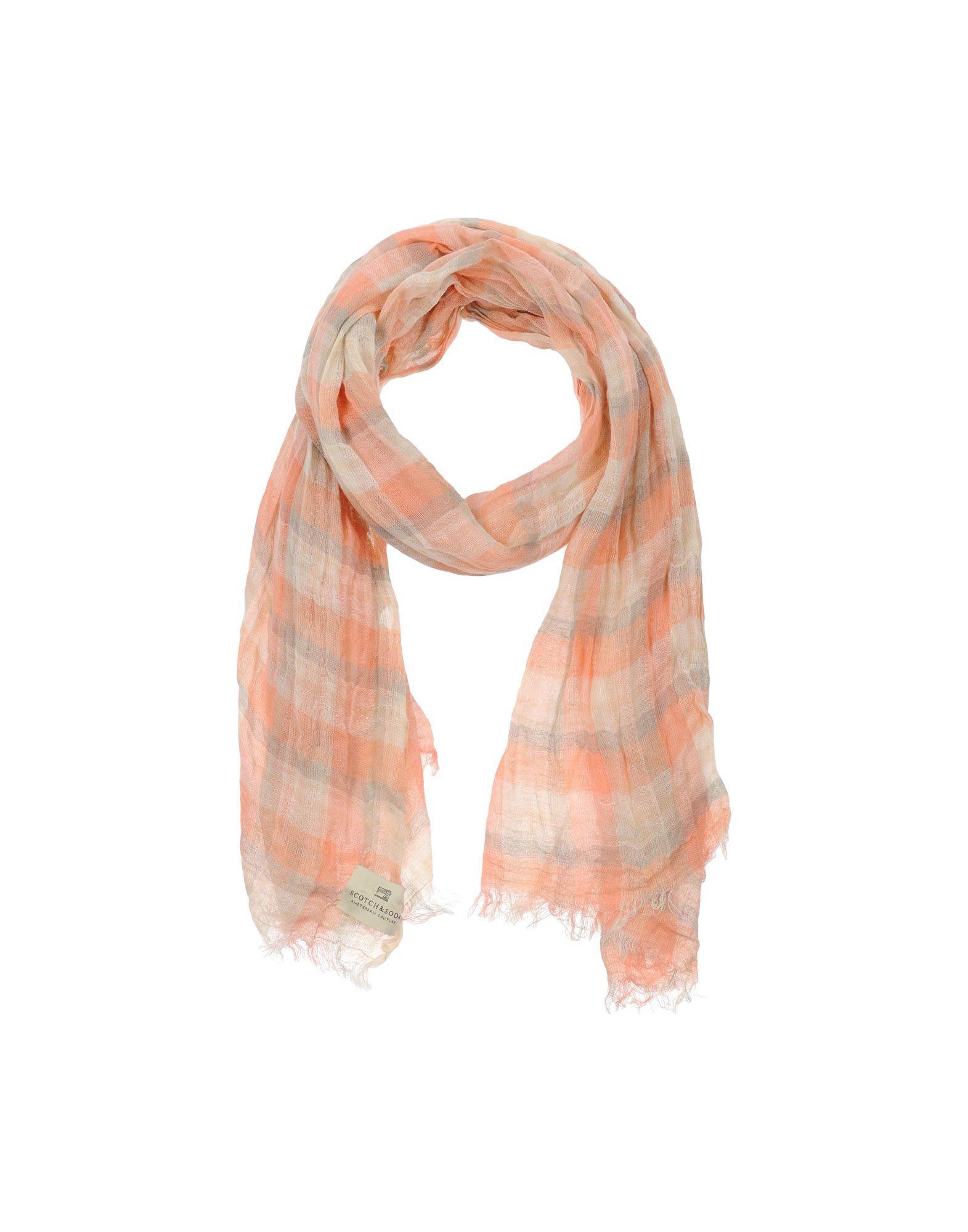 scotch soda oblong scarf in orange for lyst
