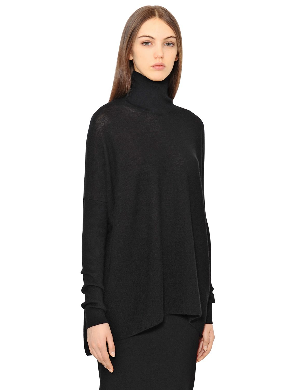Gentry portofino Oversized Cashmere Turtleneck Sweater in Black | Lyst