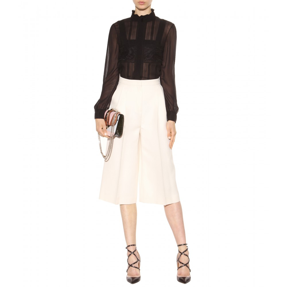 Silk culottes Valentino Clearance Extremely Sale Eastbay Clearance Authentic KyNCUiV
