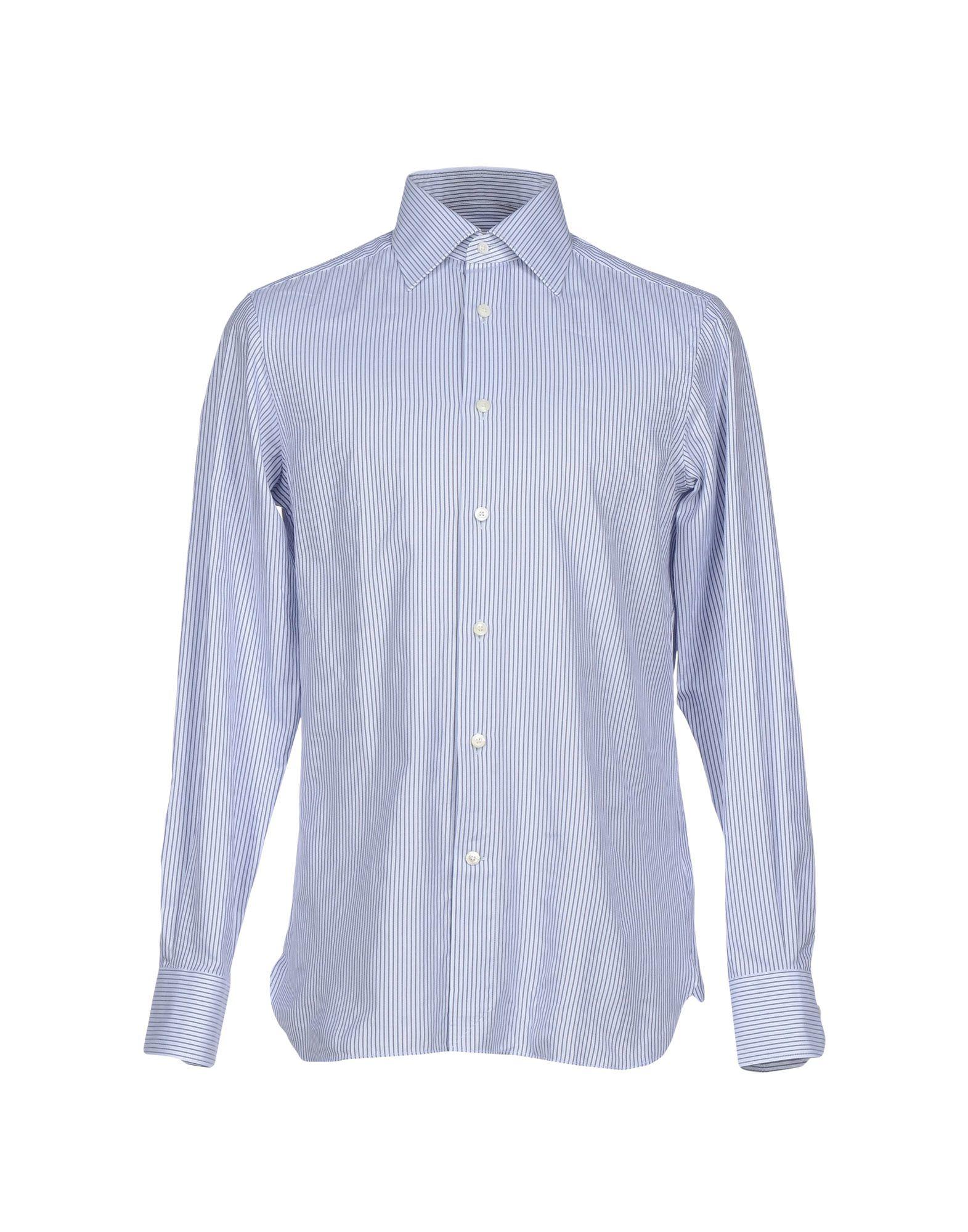 ermenegildo zegna shirt in blue for men grey lyst. Black Bedroom Furniture Sets. Home Design Ideas