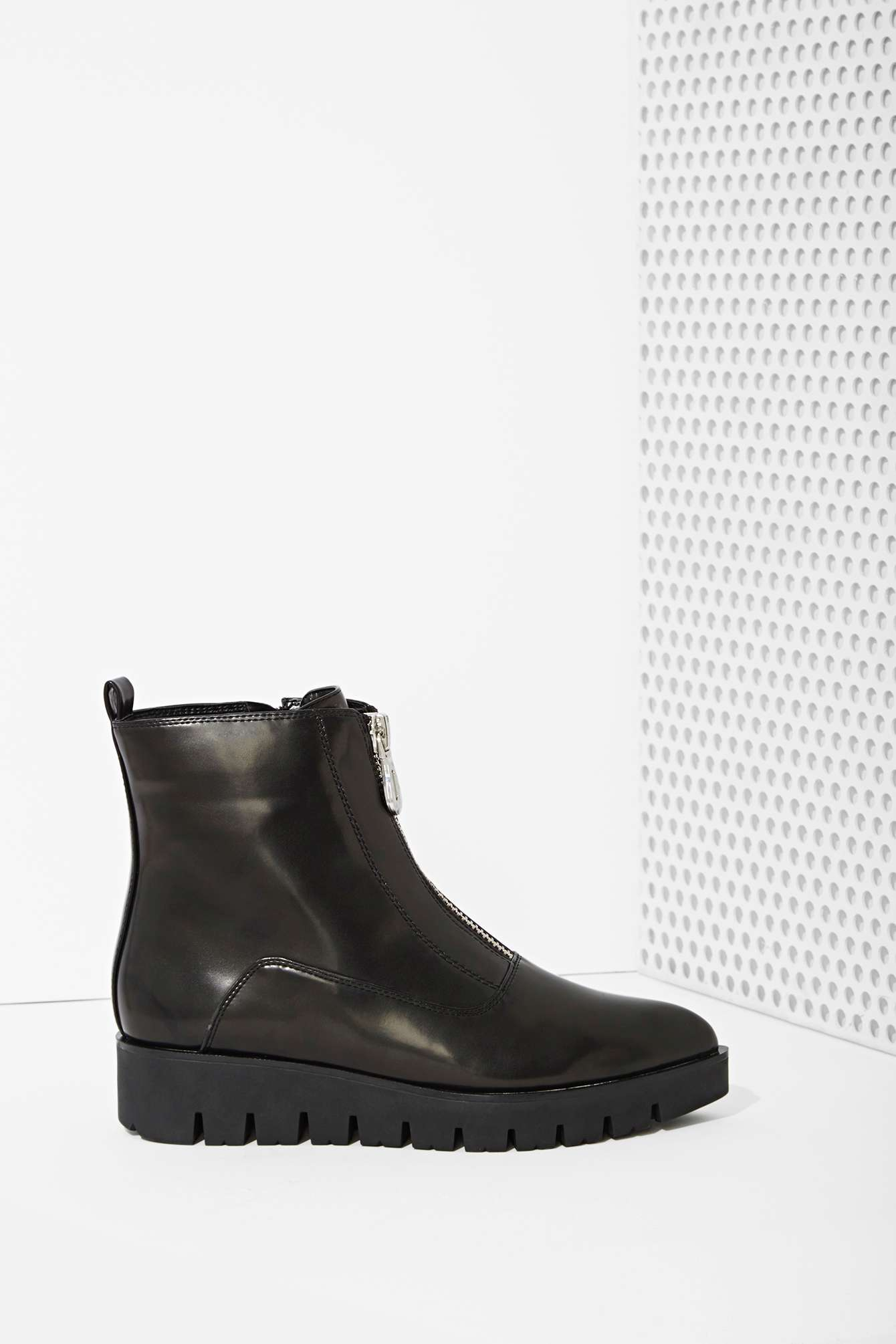 Lyst Nasty Gal Sixty Seven Tabitha Box Leather Zip Boot