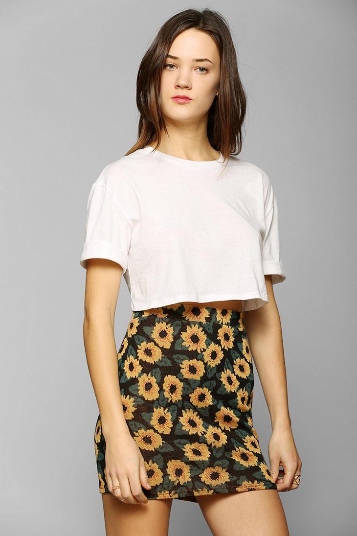 7dd2ed7b78d8 Kimchi Blue Sunflower Jacquard Mini Skirt - Lyst