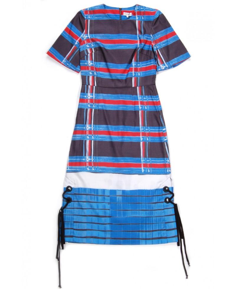 Suno lace mini dress