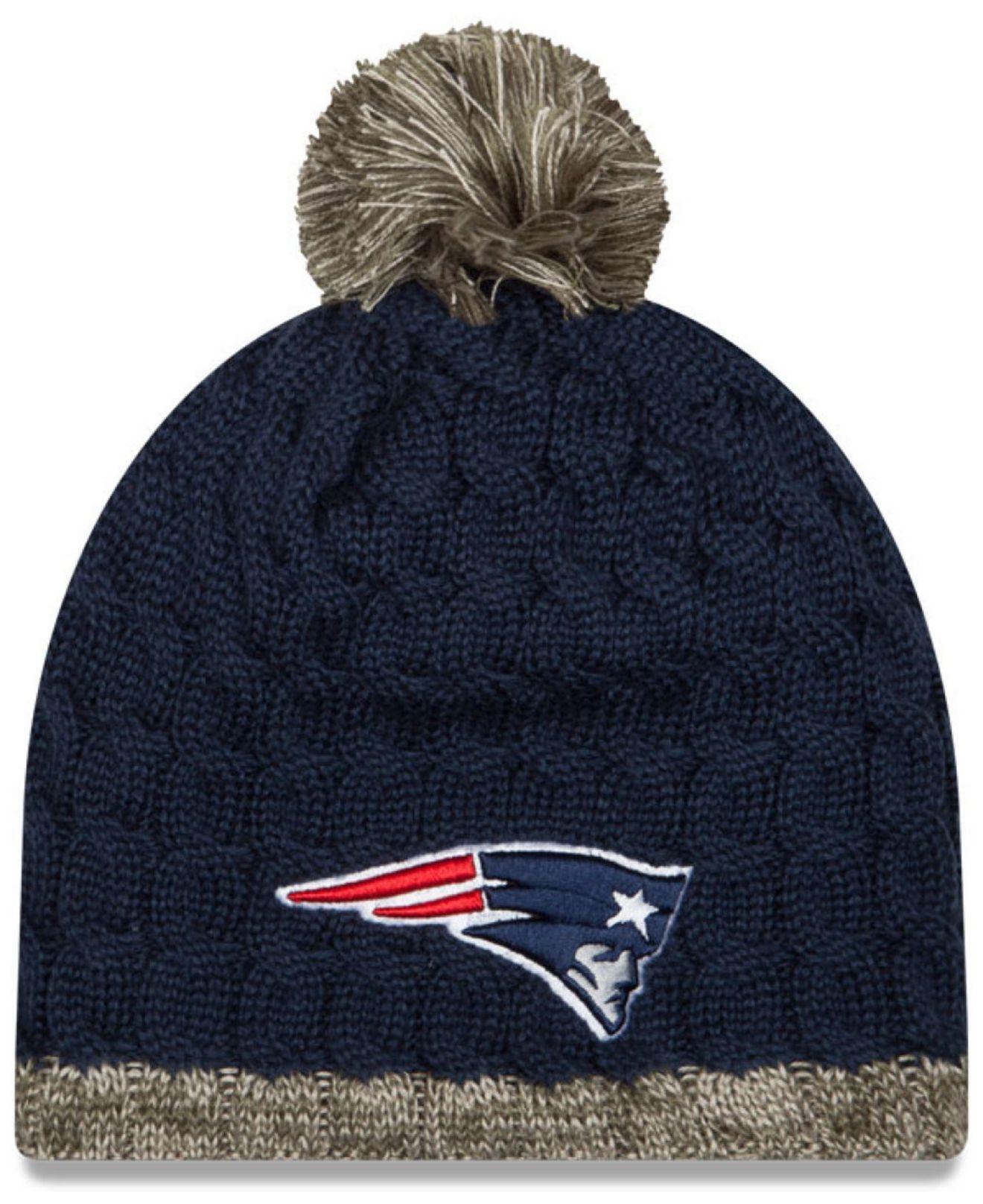 383b745a338 ... shop lyst ktz womens new england patriots salute to service knit hat  0475f 86613