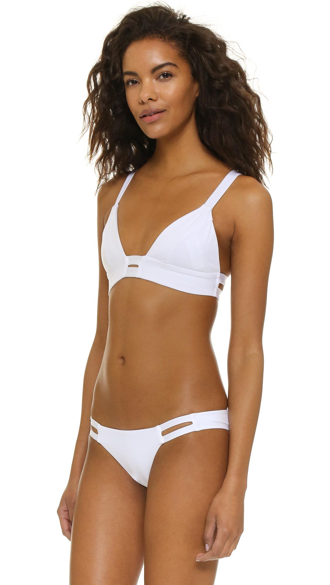 7a249fba5f3 Vitamin A Neutra Bralette Bikini Top in White - Lyst