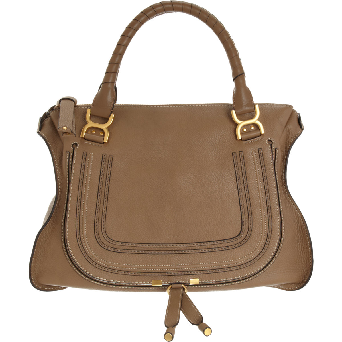 chlo marcie large leather satchel in brown lyst. Black Bedroom Furniture Sets. Home Design Ideas