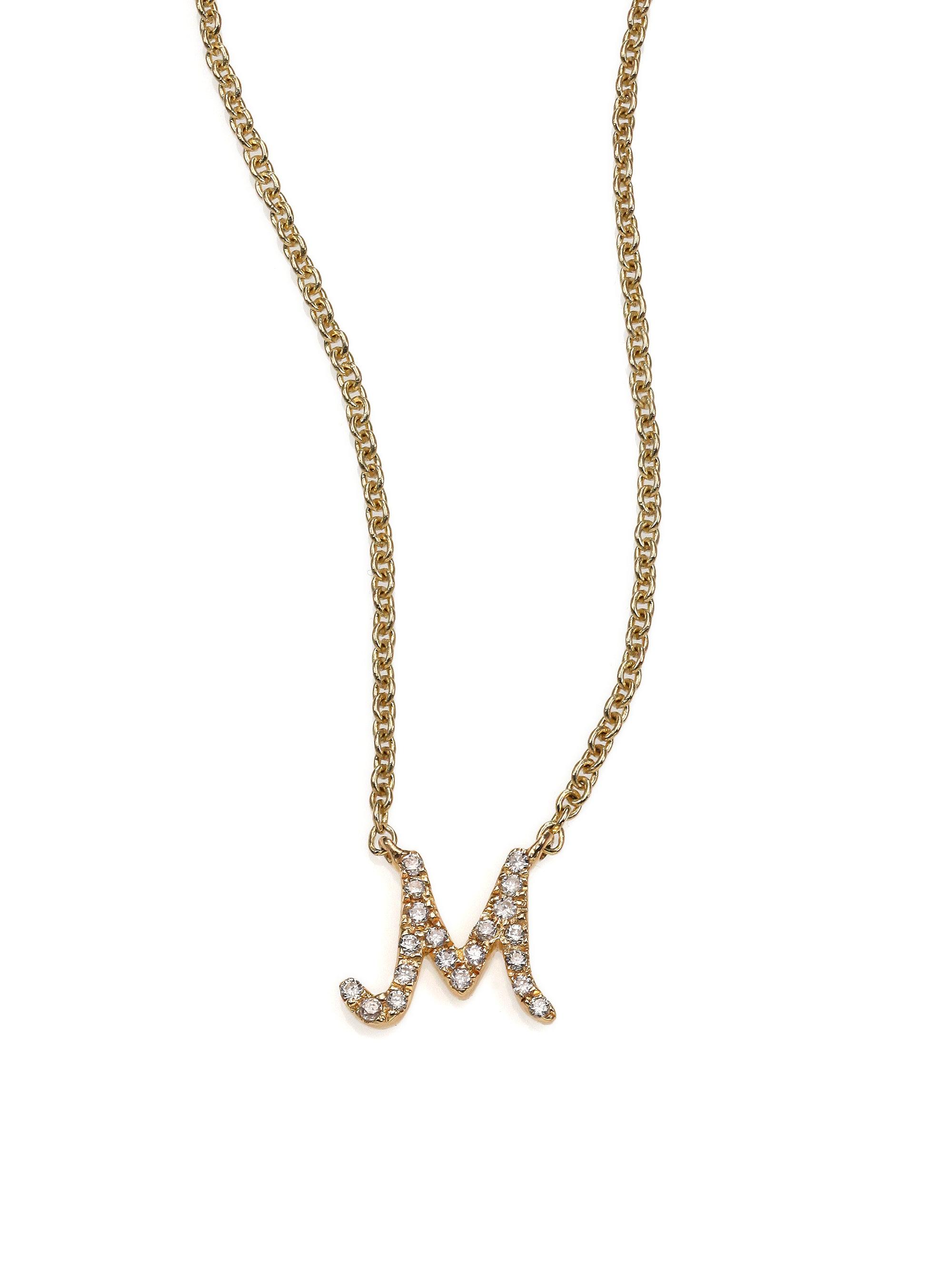 Sydney Evan Diamond E Necklace - Metallic 07pDq