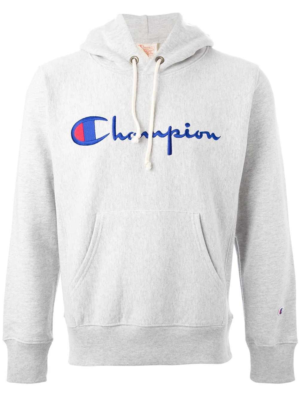 Champion Logo Hoodie in Gray for Men | Lyst