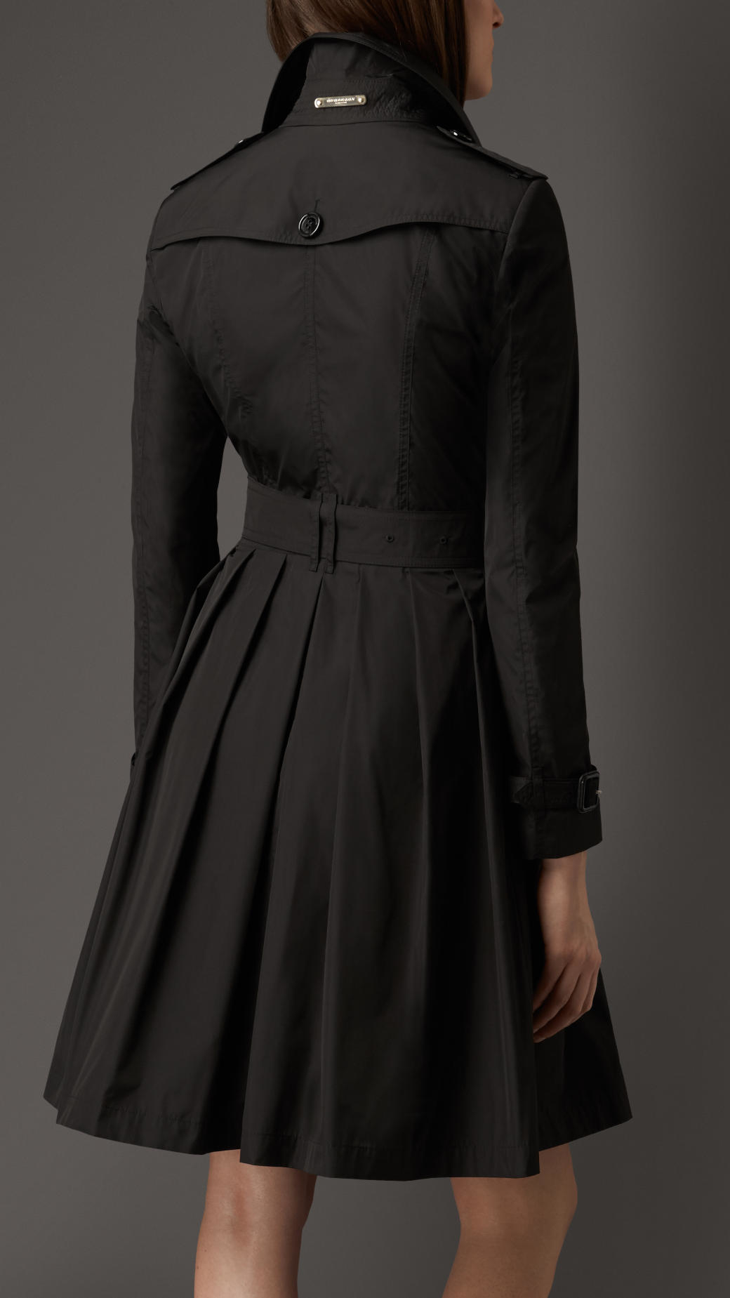Burberry Skirted Trench Coat in Black