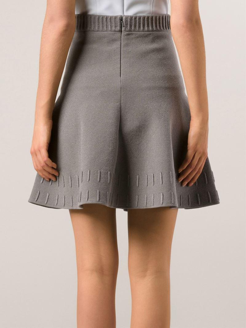 Maison ullens Flared Skirt in Gray | Lyst