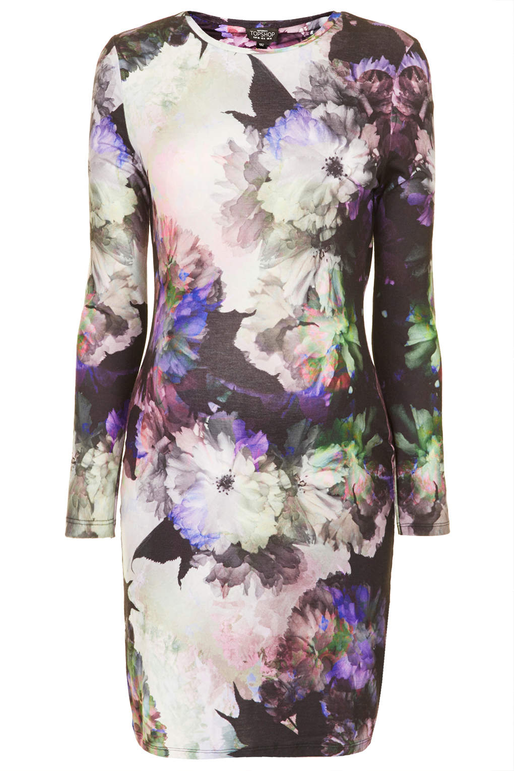Topshop maternity digifloral print bodycon dress in purple lyst gallery ombrellifo Image collections