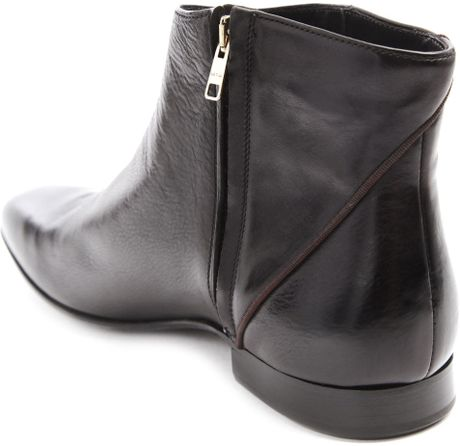Paul Smith Zipped Dip Dye Black Leather Boots In Black For