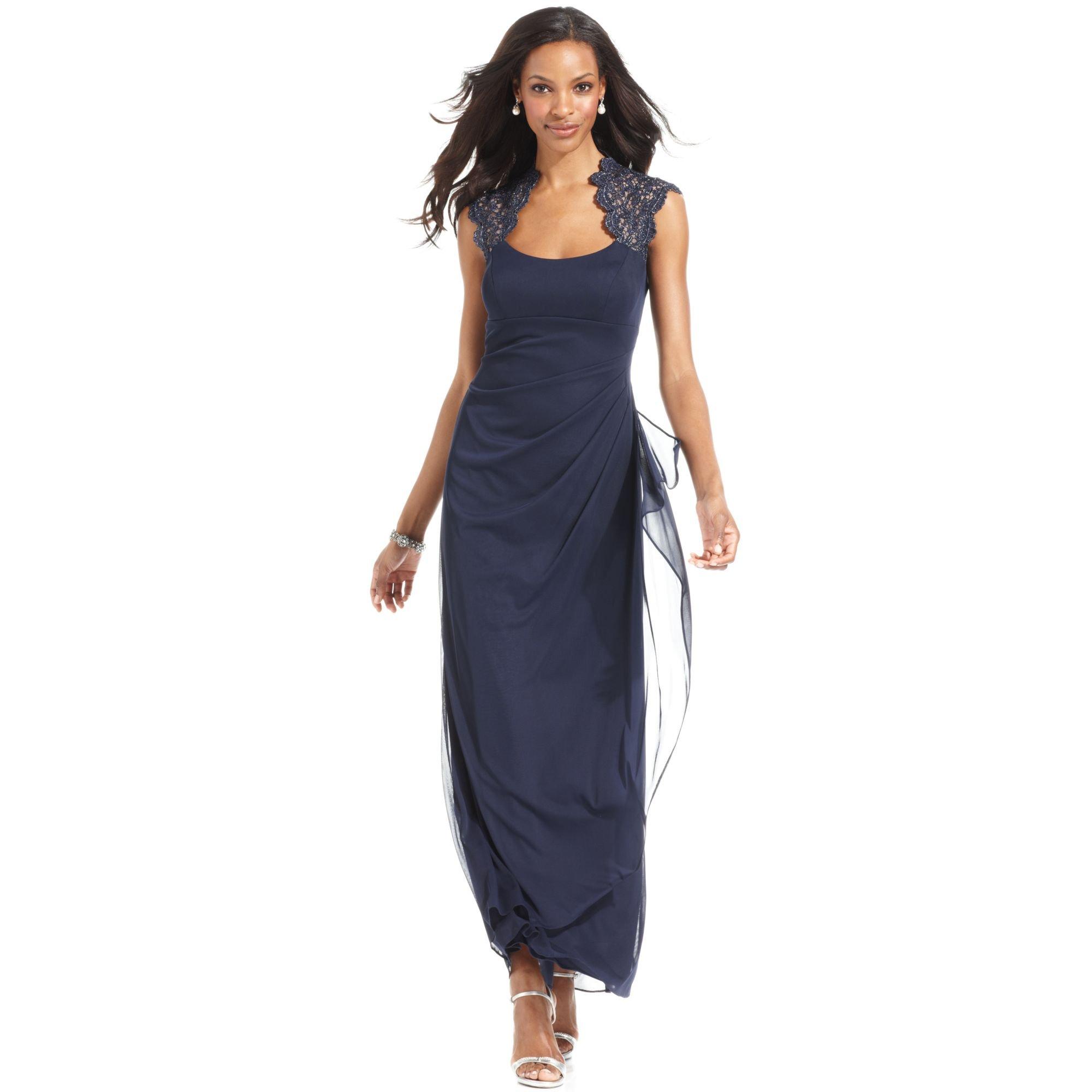 Xscape Navy Dresses | Dress images