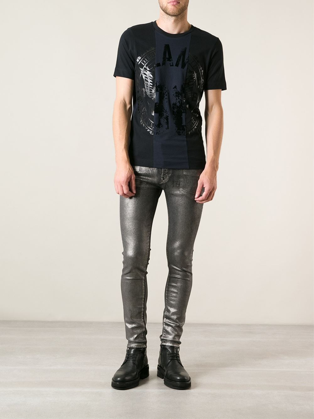 Diesel black gold Twotone Jeans in Gray for Men | Lyst