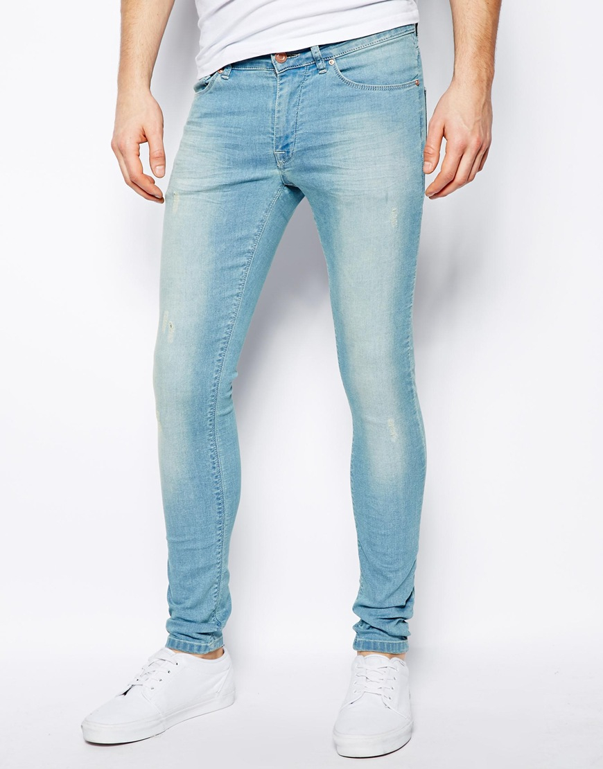 Asos light wash skinny jeans