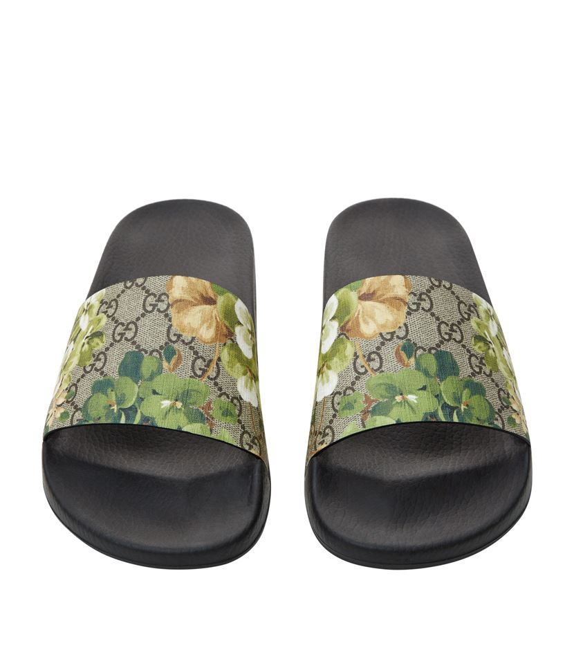 852e74f001ee Gucci Pursuit Floral Slider in Green - Lyst