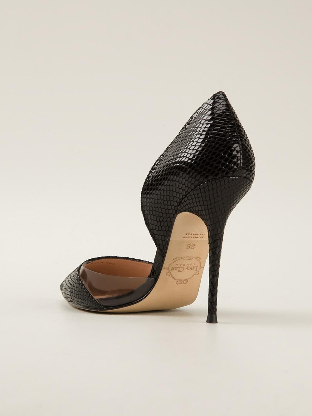 Black Snake Effect Court Shoe