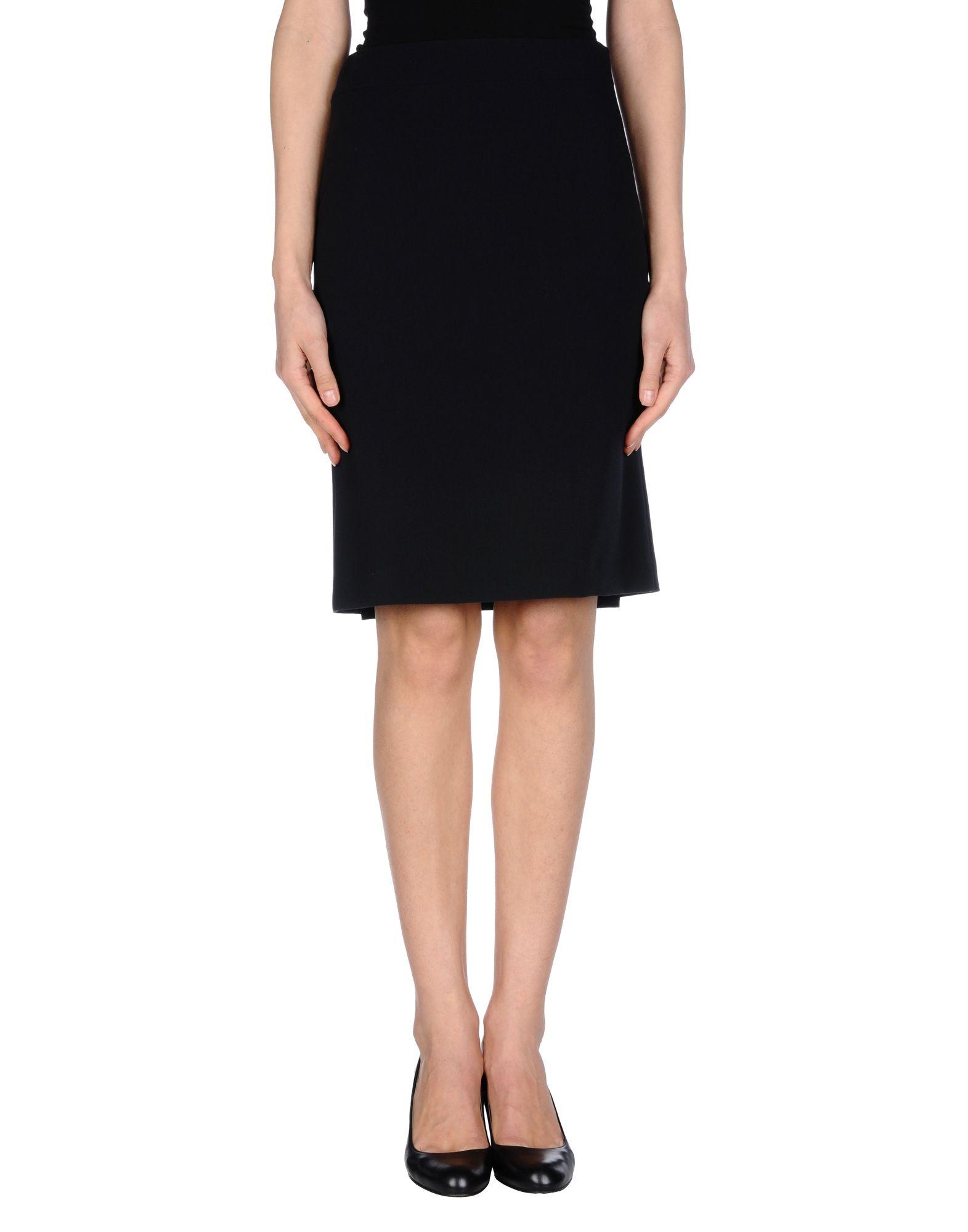 nvl knee length skirt in blue lyst