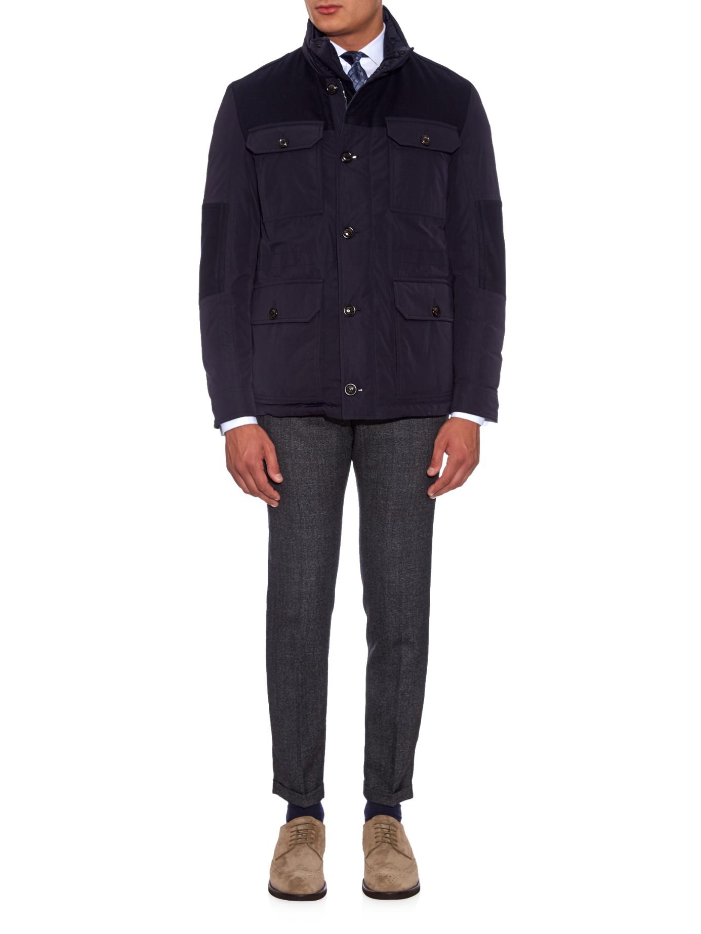 Lyst Moncler Lenoir Reversible Field Jacket In Blue For Men