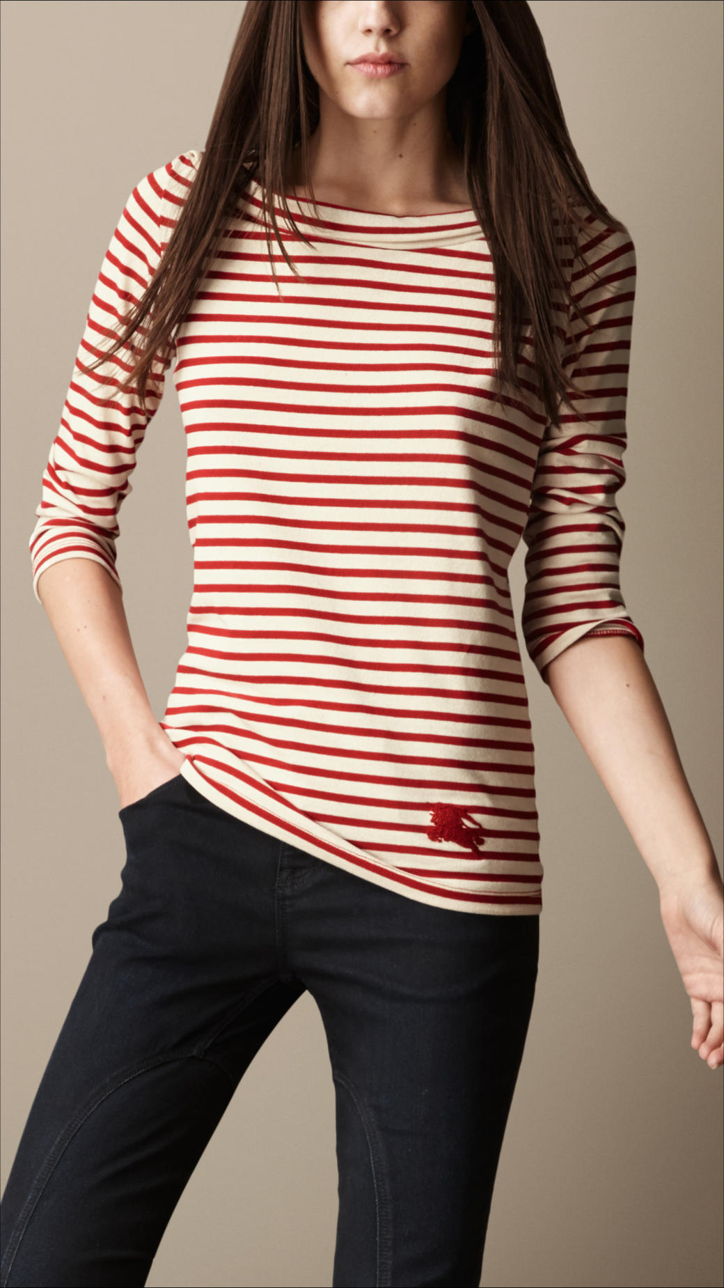 The Robo Robot Breton Stripe Top is a relaxed fit style in a red Breton stripe design with a fun robot embroidered patch on the front. The Robo Robot Breton Stripe Top is a relaxed fit style in a red Breton stripe design with a fun robot embroidered patch on the front. +44 (0) ;.