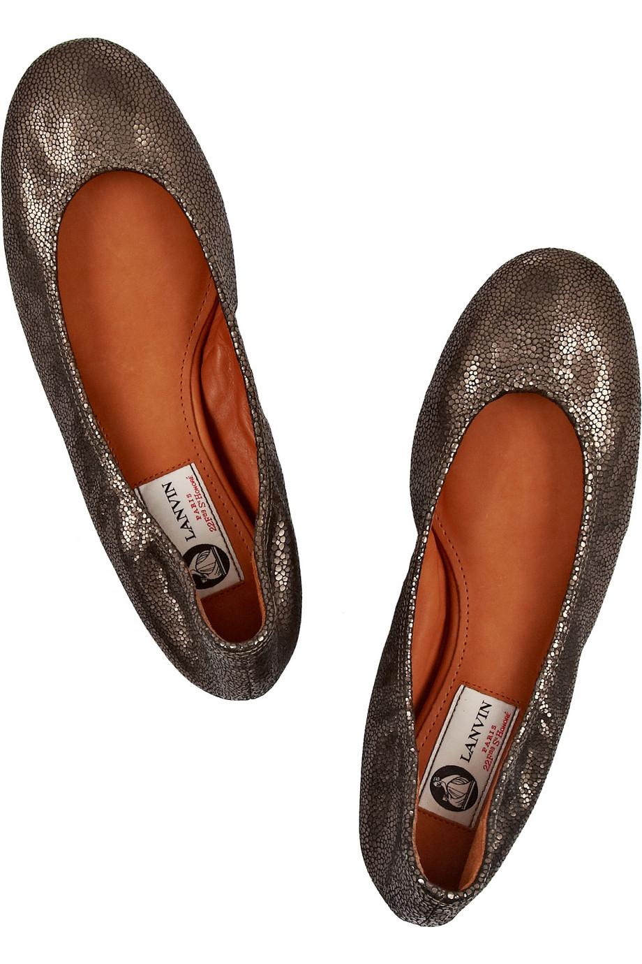 Lanvin Metallic Ballet Flats cheap for cheap Um8WT3EZ