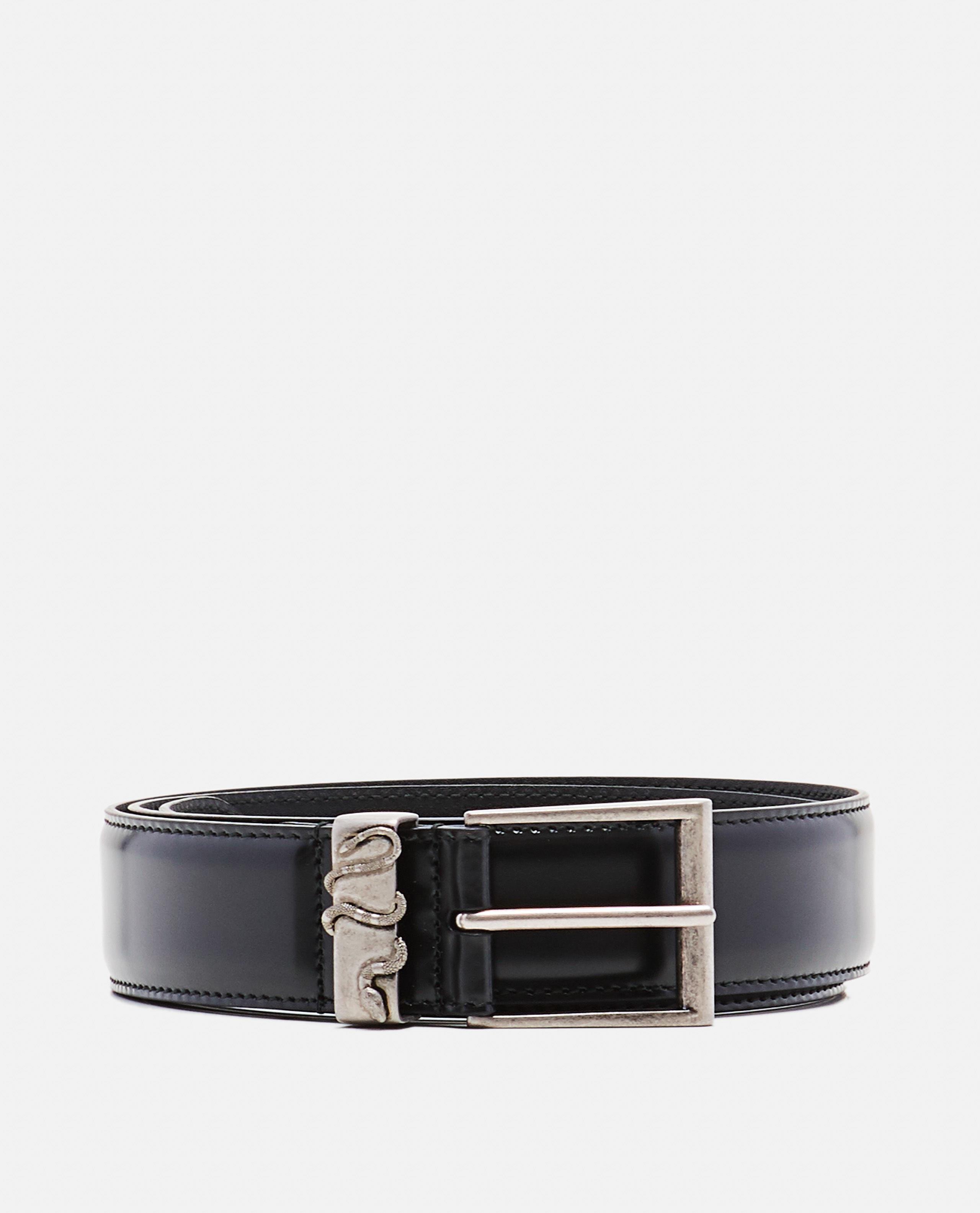 4b165463f Gucci Leather Belt With Snake in Black for Men - Lyst