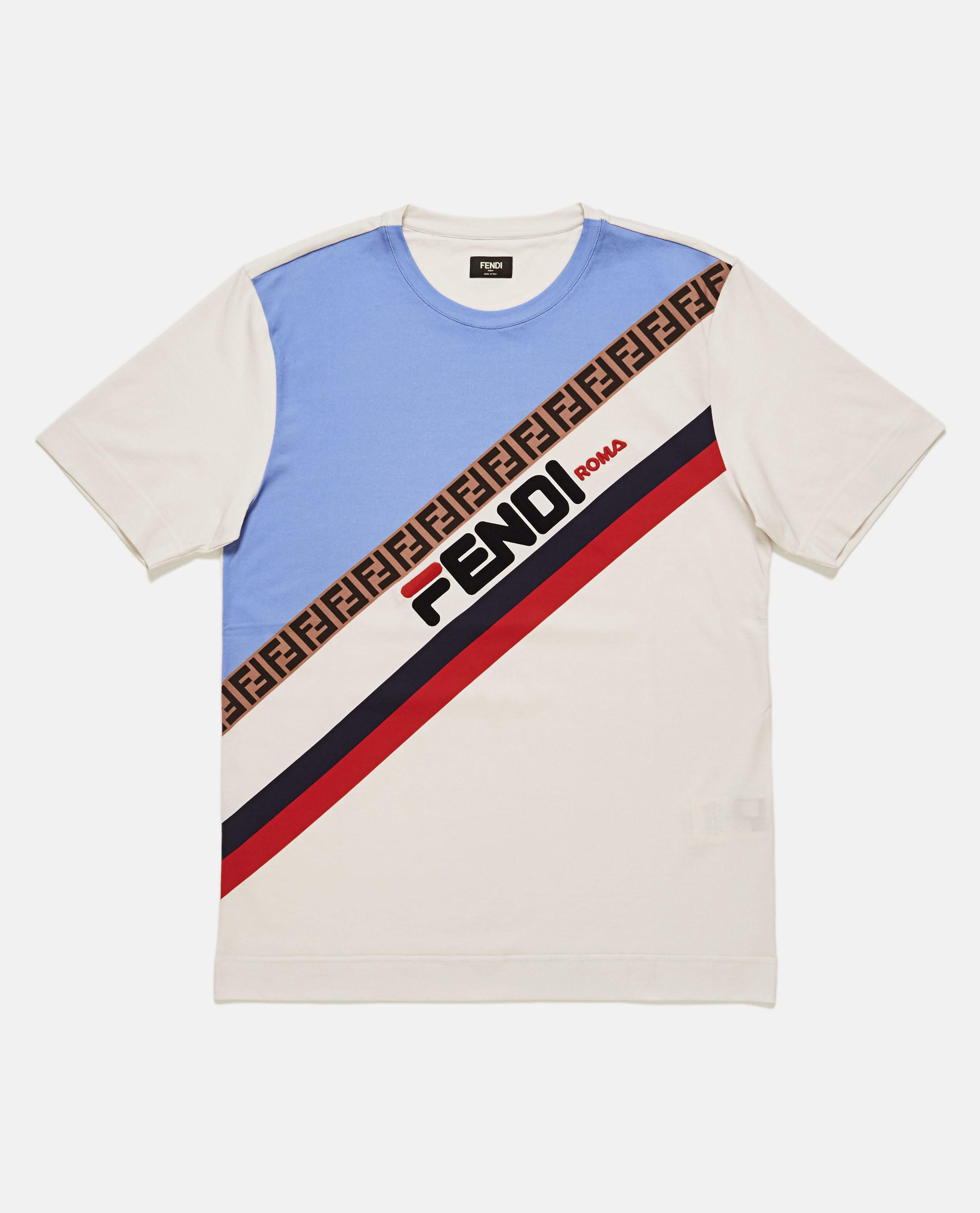 ff0f9bb5d50c Lyst - Fendi T-shirt With Mania Pattern in Natural for Men