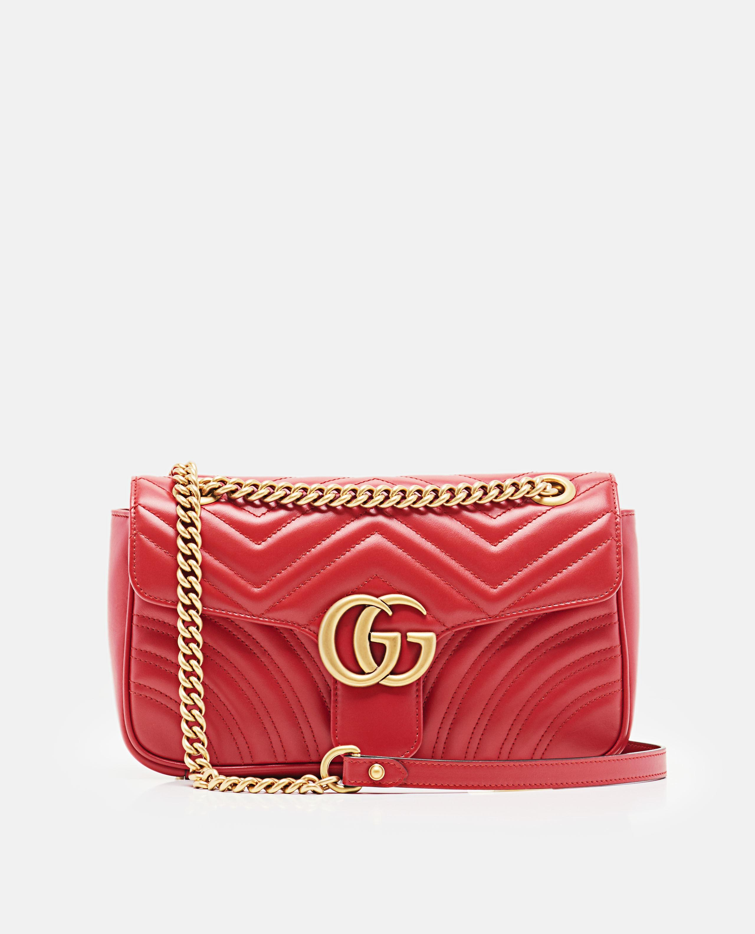 ef689f83a Gucci Gg Marmont Small Matelassé Shoulder Bag in Red - Lyst