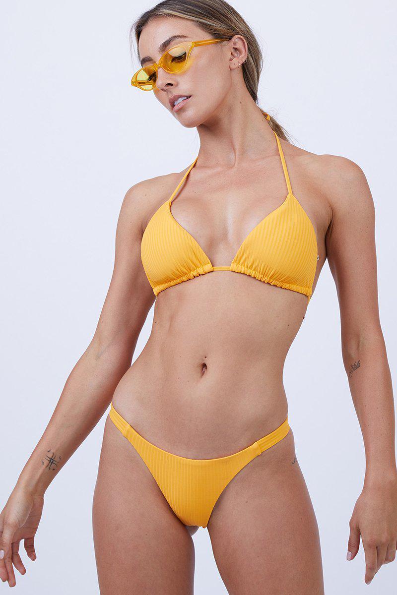 69a880a346 Vitamin A Gia Reversible Triangle Bikini Top - Sunflower Ecolux in ...
