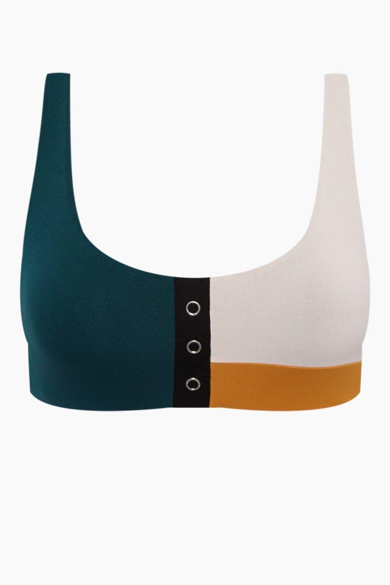 bac32dc5eee0a Seafolly Aralia Scoop Stud Front Bikini Top - Emerald/rose/black ...