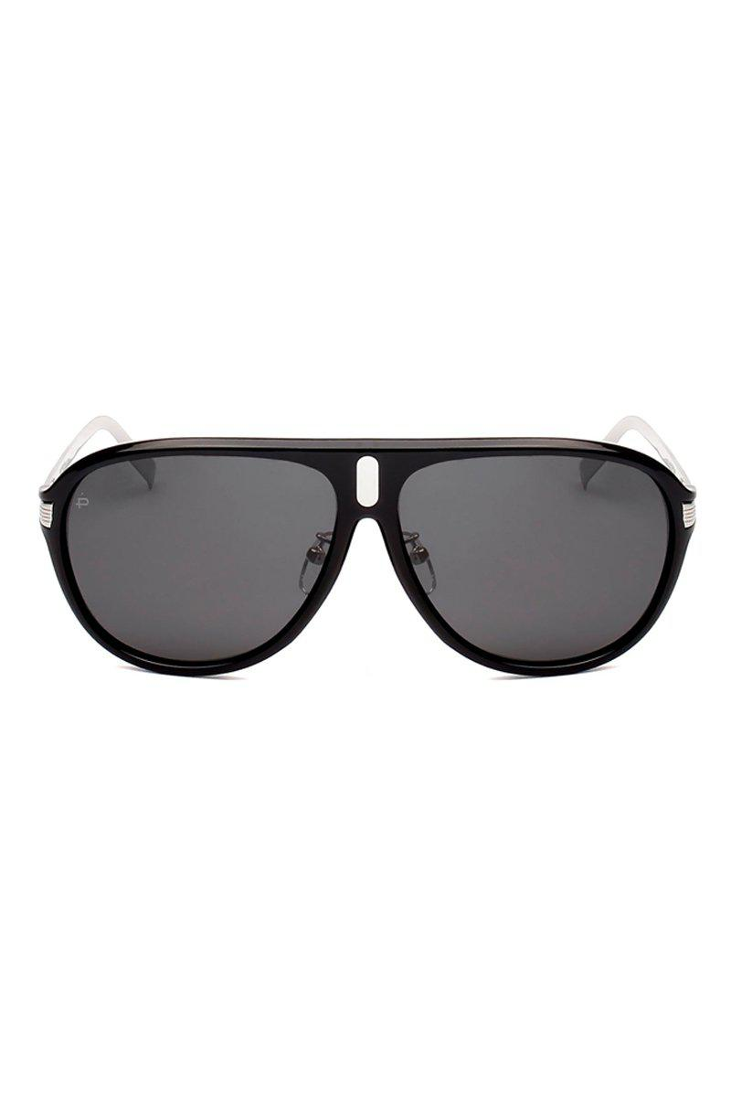 6bfc55a719a Privé Revaux. The Mcqueen Unisex Flat Top Polarzied Sunglasses - Black
