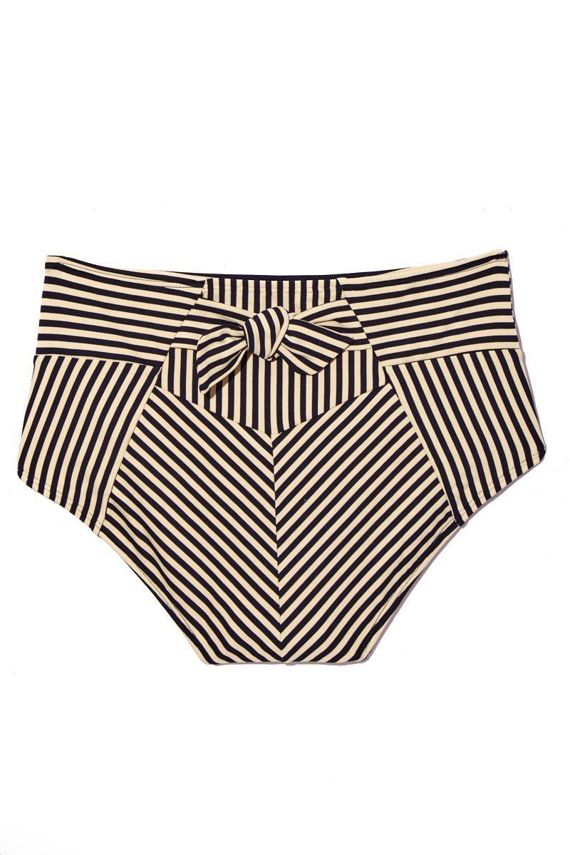 693a033138 Marlies Dekkers - Holi Vintage High Waist Briefs Bikini Bottom - Blue Ecru  - Lyst. View fullscreen