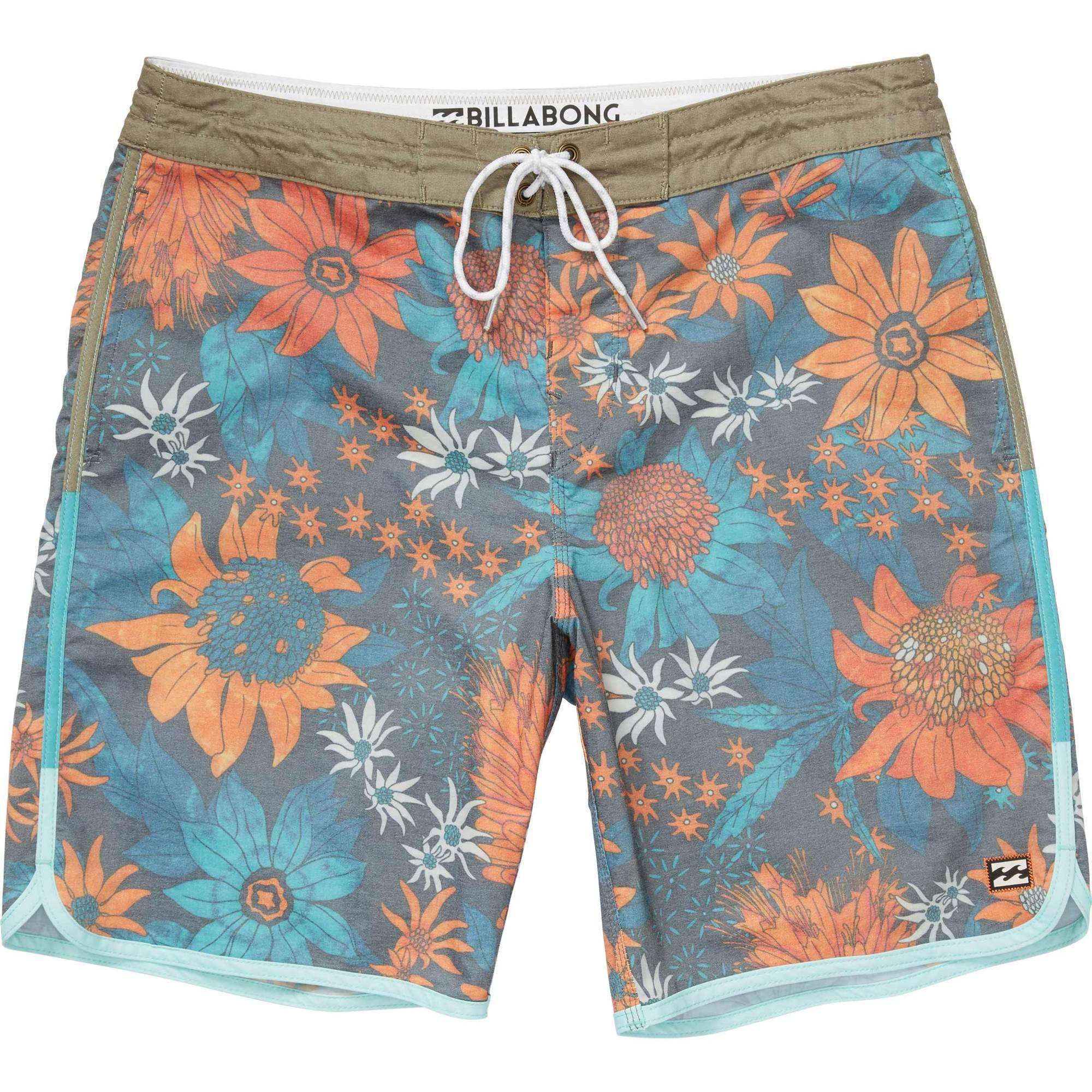 754e88cd80 Lyst - Billabong Tribong Lo Tide Scalloped Boardshorts in Blue for Men