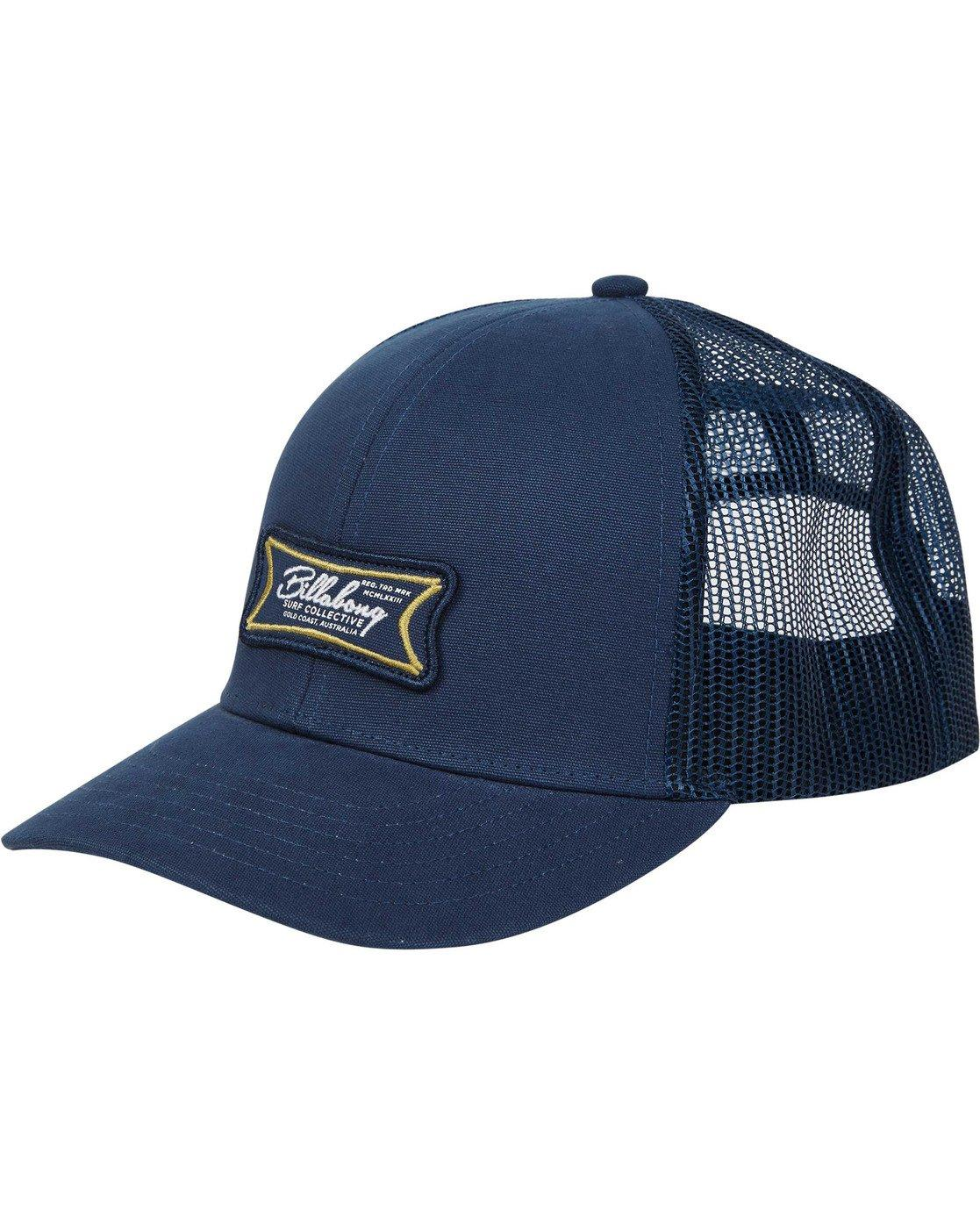 24e6959af112c Billabong - Blue Walled Trucker Hat for Men - Lyst. View fullscreen