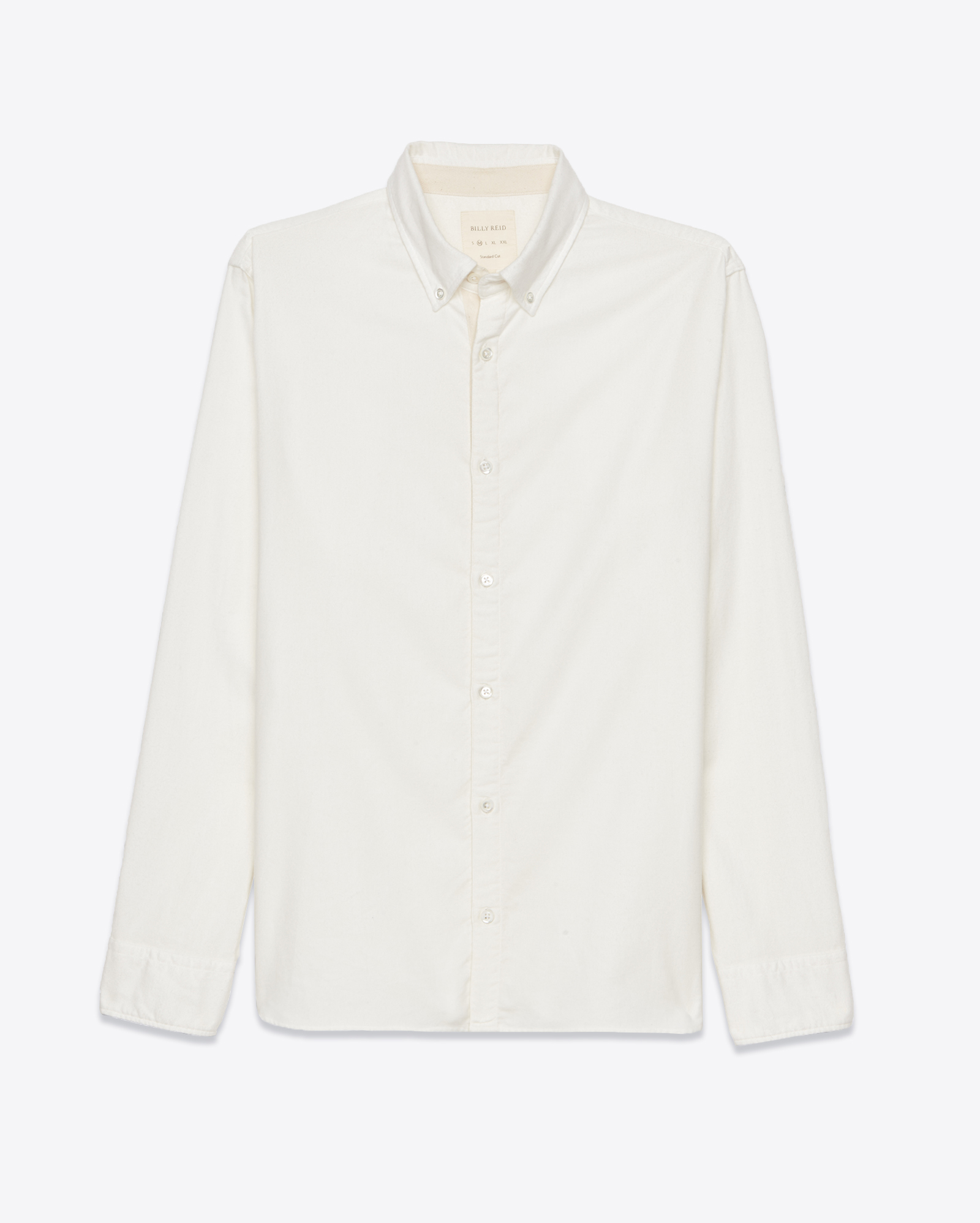 Lyst Billy Reid Brushed Twill Shirt In White For Men