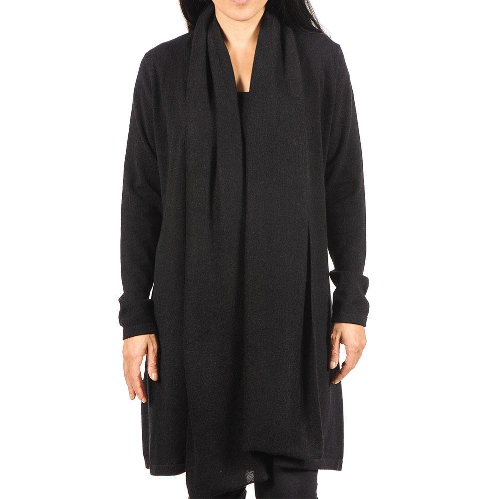 Black.co.uk Black Longline Cashmere Cardigan in Black | Lyst