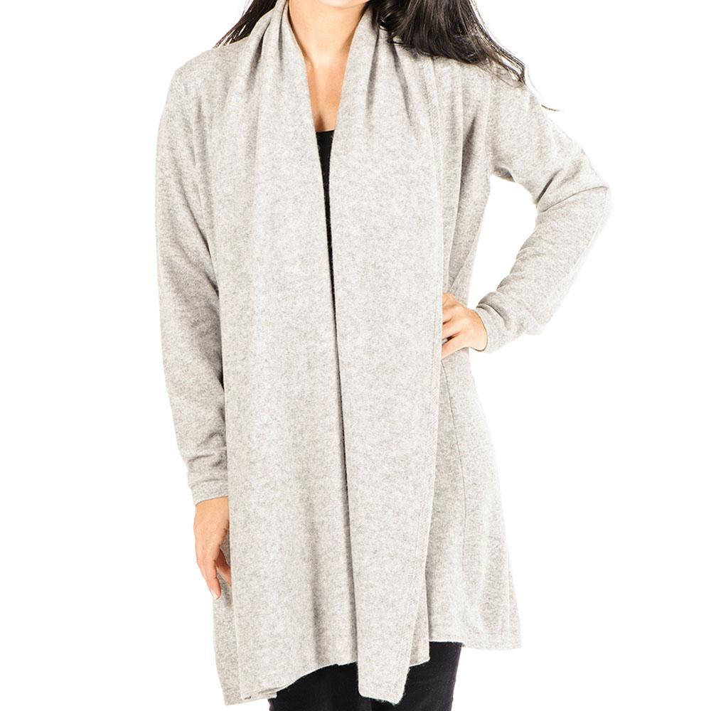 Black.co.uk Soft Grey Longline Cashmere Cardigan in Gray | Lyst