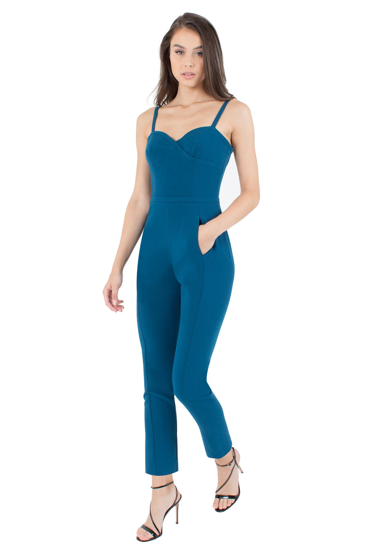 f79286e2beb2 Lyst - Black Halo Daria Jumpsuit in Blue
