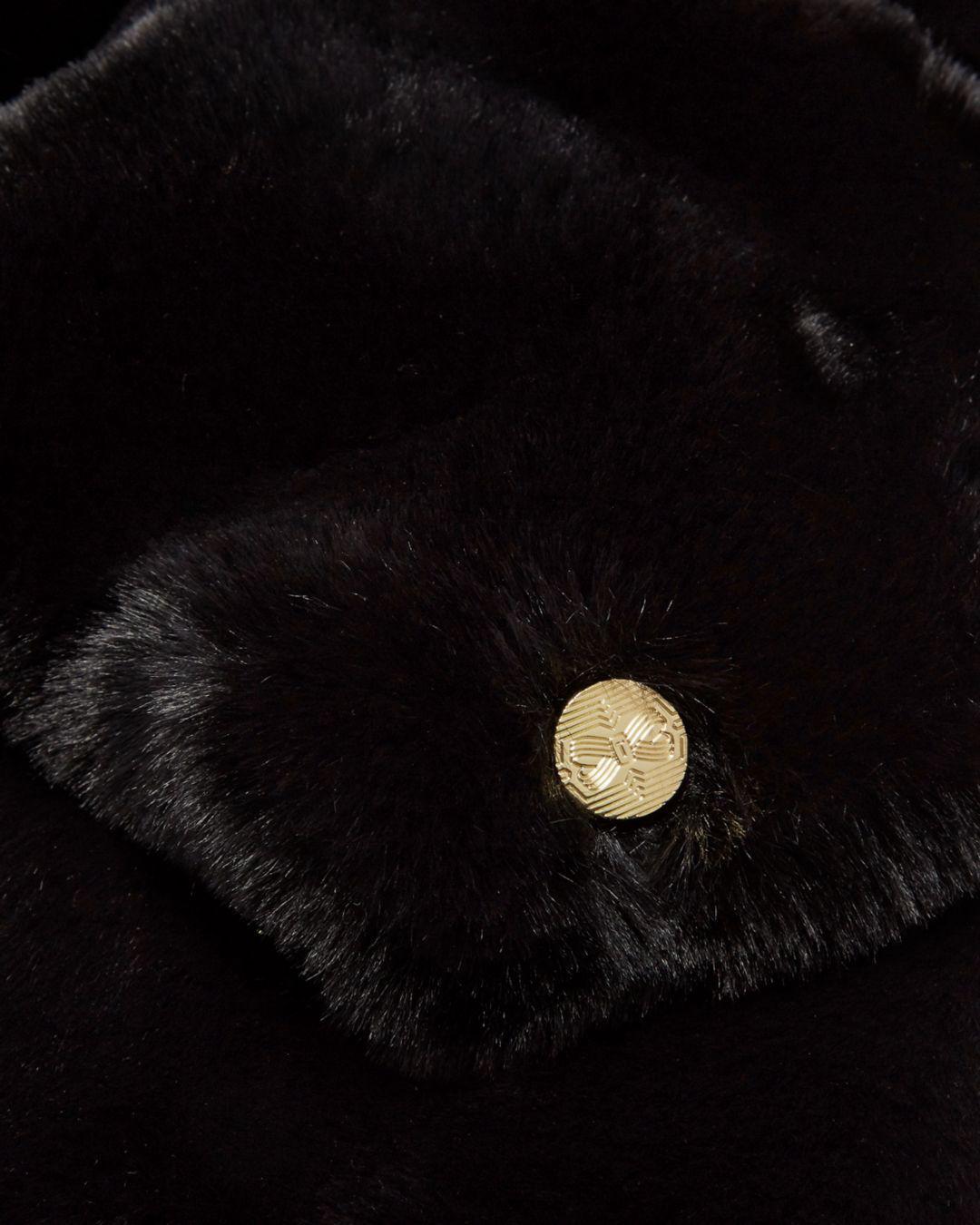 9f83b0088ca5c Lyst - Ted Baker Charli Faux Fur Scarf in Black