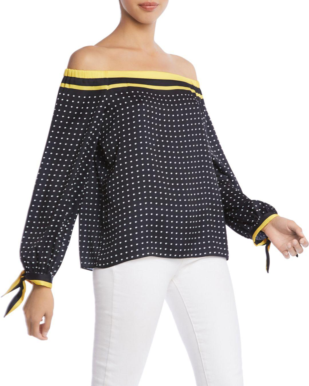 79c0ef4abdb7c Bailey 44 - Multicolor Tabernacle Polka Dot Off-the-shoulder Top - Lyst.  View fullscreen